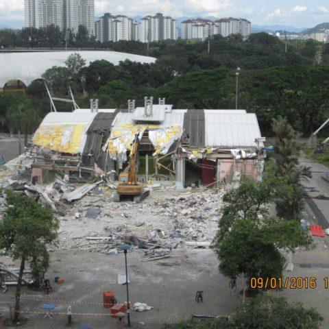 Kompleks Sukan Bukit Jalil Demolition Works